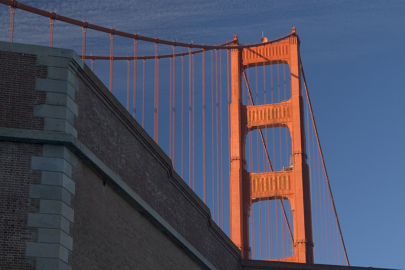 Golden Gate Bridge from Fort Point, San Francisco
