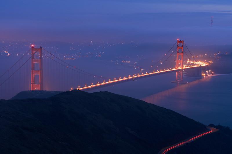 Golden Gate Bridge<br /> <br /> Shot from Slacker Ridge in the Marin Headlands.