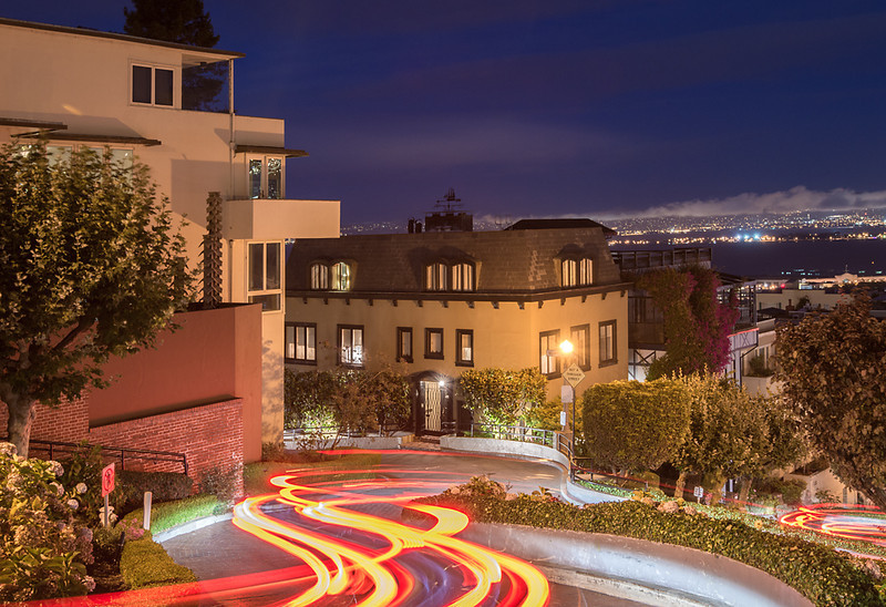 Lombard Wiggle<br /> <br /> Lombard Street, San Francisco