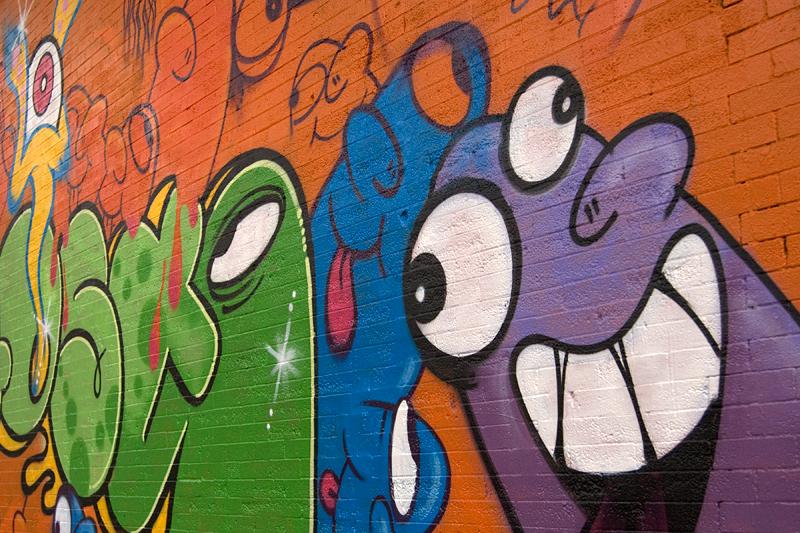 Wall art, Haight Street, San Francisco