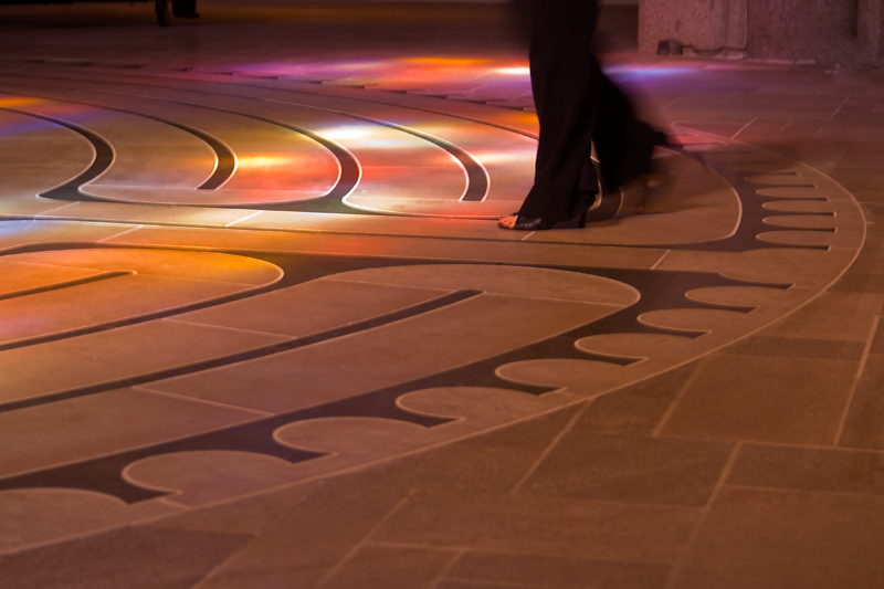 Walking the Labyrinth at Grace Cathedral,<br /> Knob Hill, San Francisco, CA