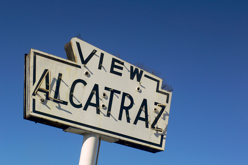 View Alcatraz Sign, Fisherman's Wharf<br /> San Francisco, CA