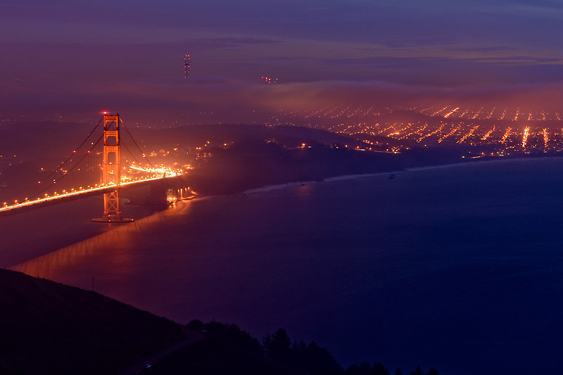 Golden Gate and SF Districts<br /> <br /> Golden Gate Bridge and San Francisco districts<br /> of Sea Cliff and Richmond.