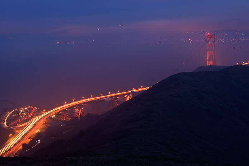 Golden Gate North 101<br /> <br /> North tower of the Golden Gate Bridge and Hwy<br /> 101.