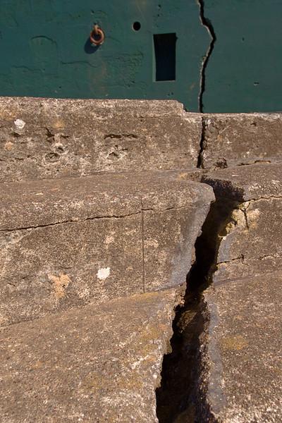 Interesting crack, Battery Mendel, Marin Headlands, Califormia