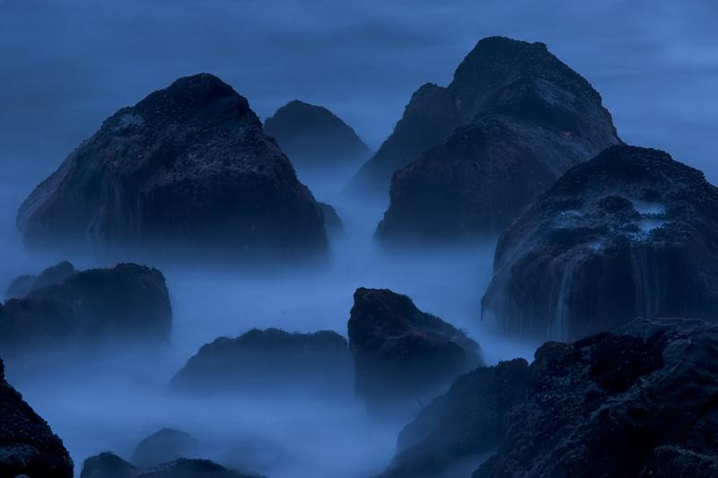 Rocky coastline near Steep Ravine Cabins, Mt. Tamalpais State Park, California