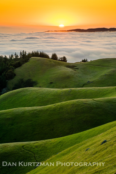 Spring Sunset on Mt. Tam
