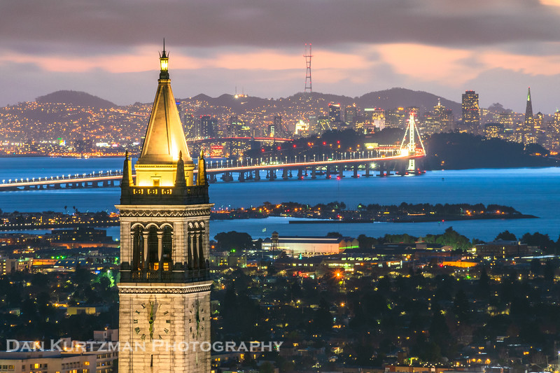 Berkeley Campanile and the SF Skyline