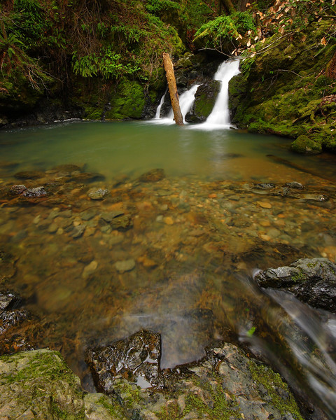 Cataract Falls and Pool Marin County California