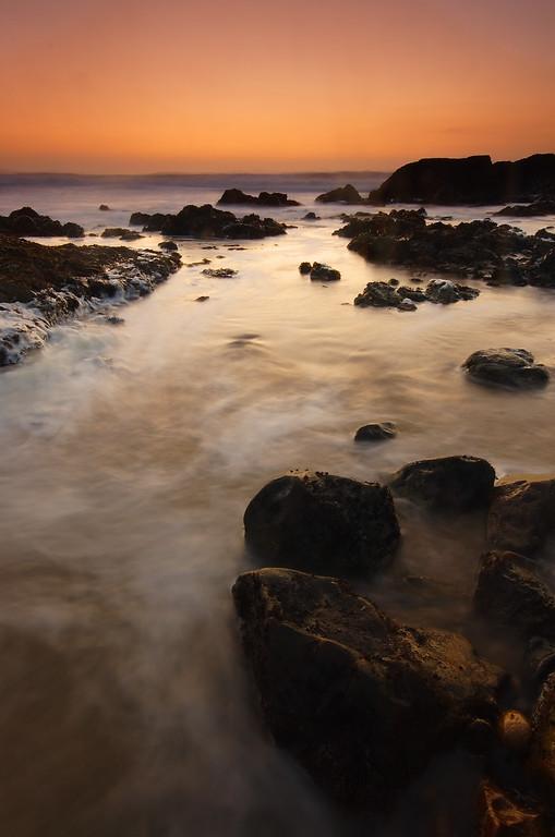 Waves at Dusk Pescadero State Beach California