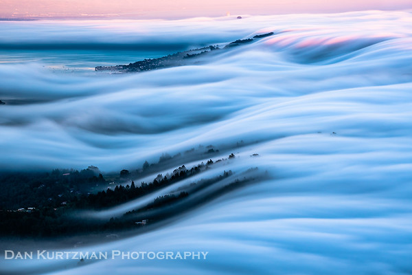 Fog Waves Above Mill Valley and Sausalito
