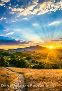 Mt. Tam Sunset from Marin's Golden Hills
