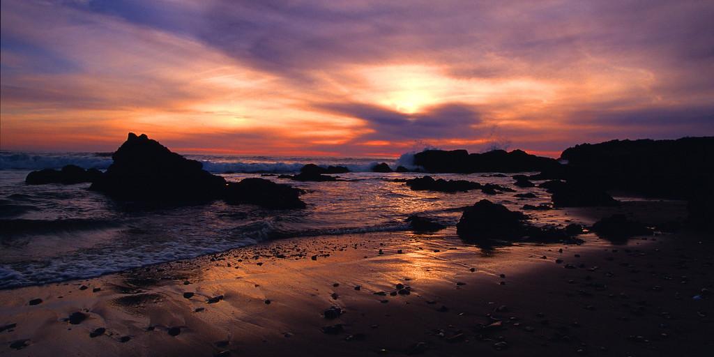 Cloudy Sunset Pescadero State Beach California