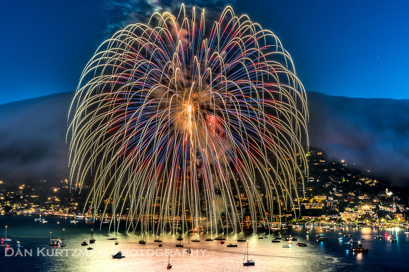 Fireworks Over Sausalito, California