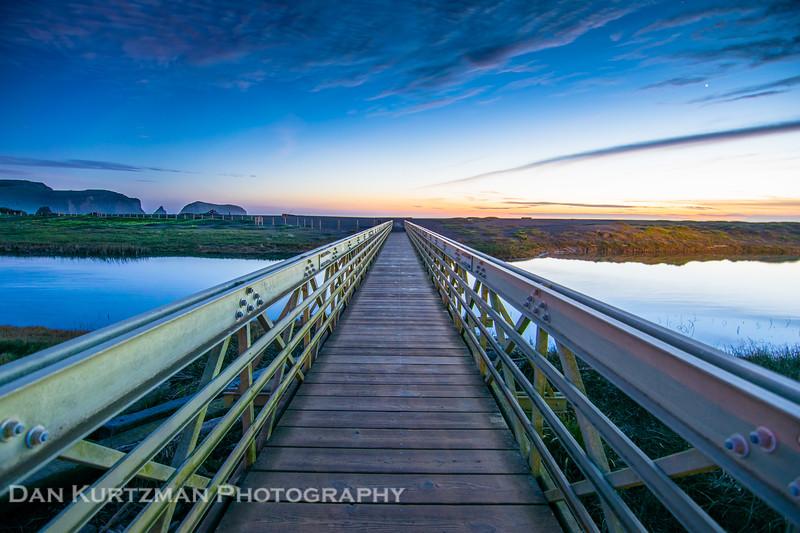 Rodeo Beach Bridge Twilight