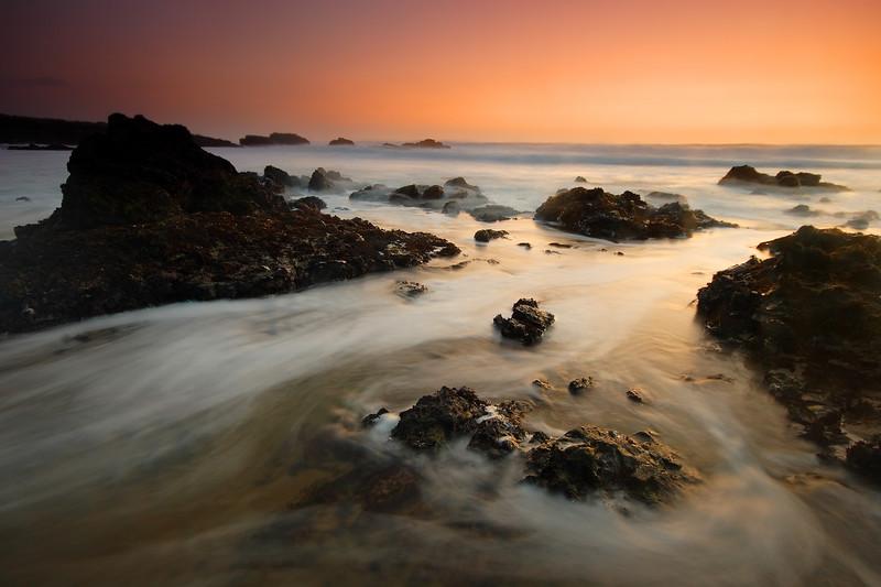 2009 Outdoor Photographer Landscape Calendar Cover Receding Waves, Dusk Pescadero State Beach California