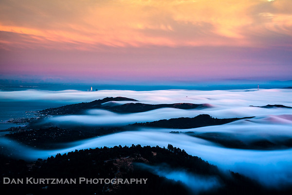 Fog Waves from Atop Mt. Tam
