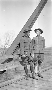 "World War I, L to R: Vance C. Porter, Robert ""Bob"" Porter."