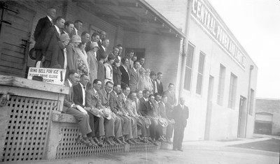 Employees of Central Power and Light circa 1930. Front row, fifth from left: Bill Ingram.