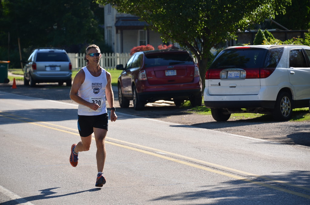 . Derek Dexter, 48, of Sterling Heights was the overall male winner in a time of 19:05.