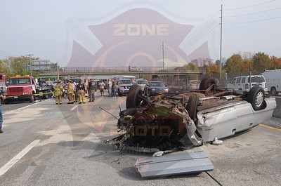 Bay Shore F.D. MVA w/ Overturn and Entrapment  Sunrise Highway and Brook Ave. 10/29/14