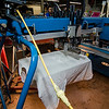 Tee shirts featuring the Patriots logo will be printed at Bay State Apparel in Leominster should the Patriots win the Super Bowl on Sunday evening. Alba Martinez makes test prints at the shop on Friday, February 3, 2017. SENTINEL & ENTERPRISE / Ashley Green