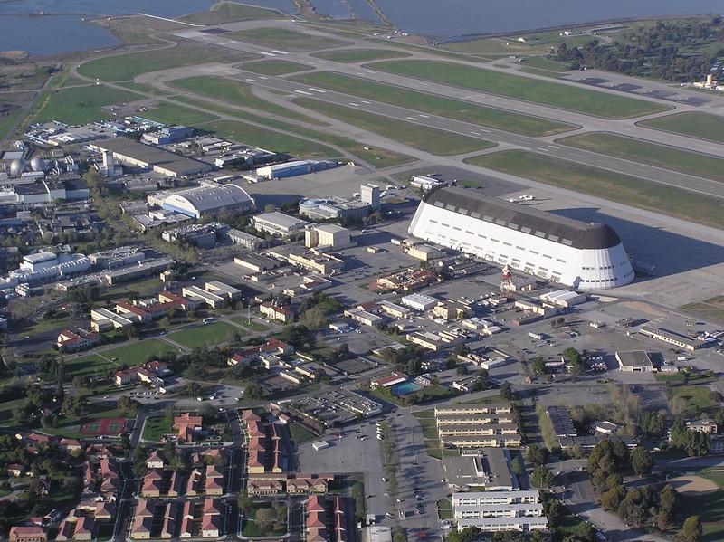 Hangar One and historic Moffett Field complex
