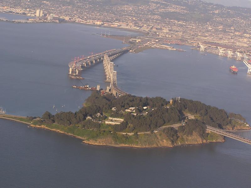 Yerba Buena Island, East span of Bay Bridge, new span under construction