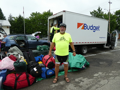 Larry getting ready for the Bay of Fundy cycling with A.C.C.