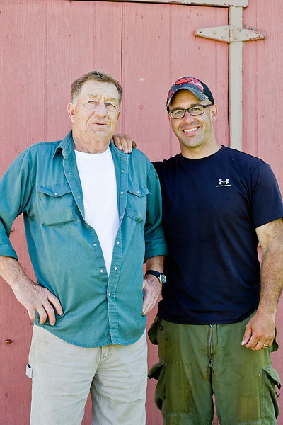Jerry Rideout,lobster fishermen, with his father