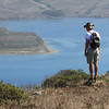 Ferg trying to see if he can find anymore . . . looking down into Tomales Bay.