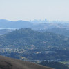 View of San Francisco from Novato's Big Rock Ridge.