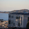 View of Angel Island overlooking the Marina from the top of the Lyon Street stairs.