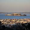 View of Alcatraz overlooking the Marina.