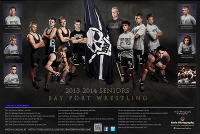 20x30 Bay Port Wrestling Poster