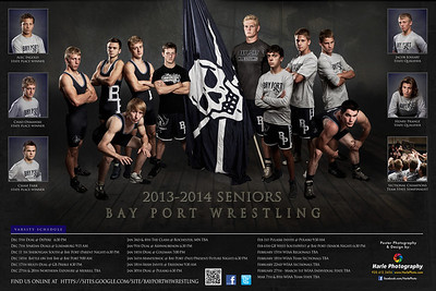 12x18 Bay Port Wrestling Poster