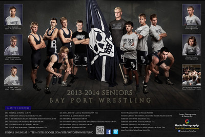 Bay Port Wrestling Poster Small