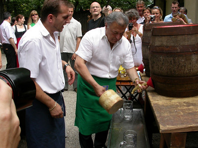 31. Juli 2006 mit Zubin im Biergarten
