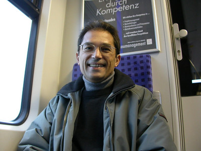 Adrian in der S-Bahn