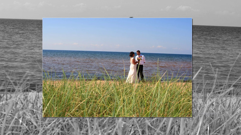 BeachWeddings-Herbster, Cornucopia South Shore of Lake Superior Photographer