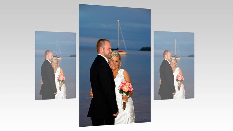 Madeline Island Town Park Beach Wedding