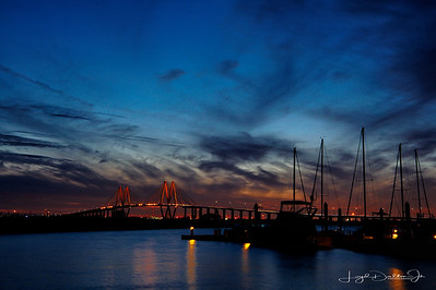 Bayland Marina & the Fred Hartman Bridge