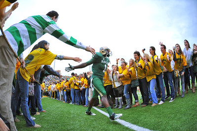 03 Dec 2011:   Baylor Bears wide receiver Kendall Wright (1) celebrates with fans as he is introduced before the game between the Texas Longhorns and the Baylor Bears at Floyd Casey Stadium in Waco Texas. Baylor wins 48-24 Manny Flores/CSM(Credit Image: © Manny Flores/Cal Sport Media/ZUMAPRESS.com)