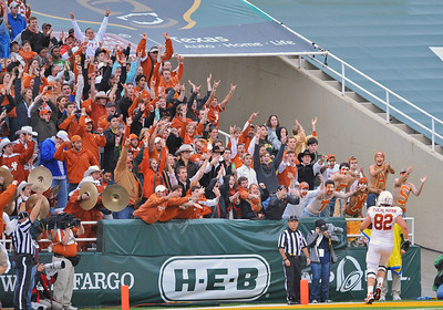 03 Dec 2011:   Texas Longhorns fans in action during the game between the Texas Longhorns and the Baylor Bears at Floyd Casey Stadium in Waco Texas. Baylor wins 48-24 Manny Flores/CSM(Credit Image: © Manny Flores/Cal Sport Media/ZUMAPRESS.com)