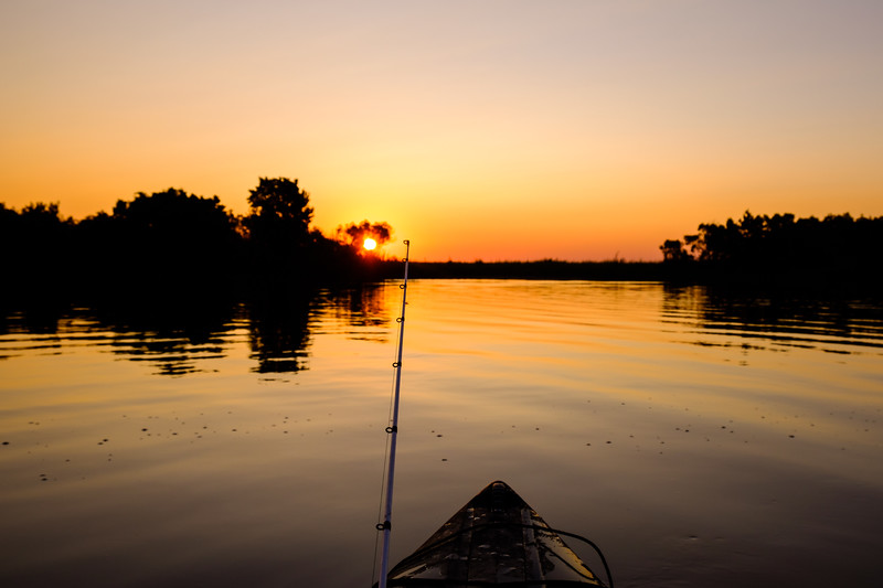 Sunrise in Hopedale, Louisiana
