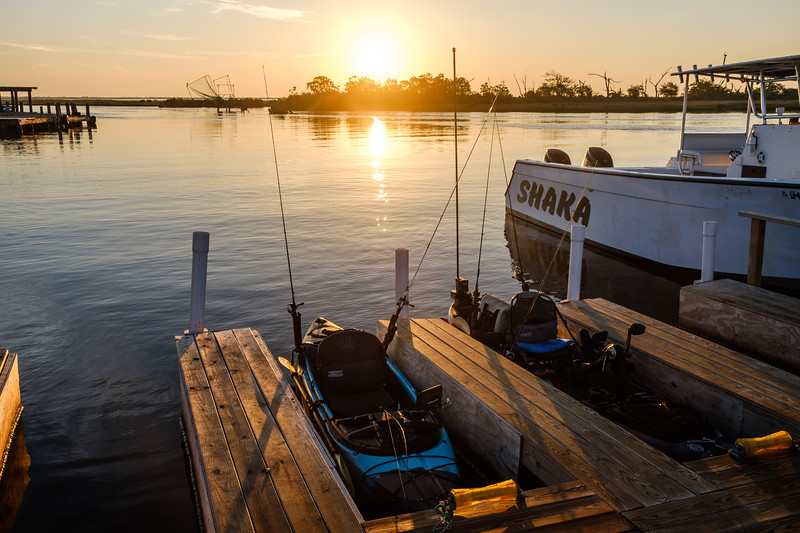 Heading out from PAC kayak rentals for a day of fishing in Point-Aux-Chenes, Louisiana