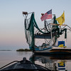 Shrimp boat at dock, Bason's Marina, Louisiana