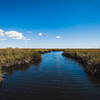 Winding bayou in Point-Aux-Chenes, Louisiana