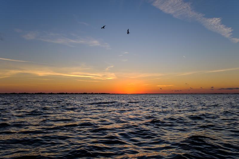Sunset on the water, Louisiana