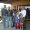 Pator Caesar and his family at his house